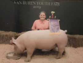 Emma Engel Grand Champion Van Buren Coun