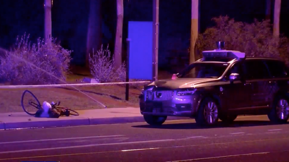 uber car kills a pedestrian in Arizona