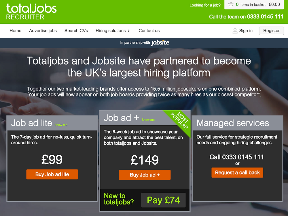 TOTALJOBS PARTNERS WITH JOBSITE