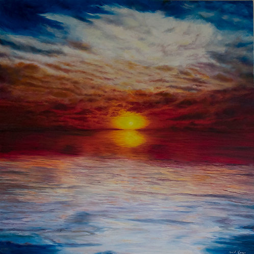 "Brilliant Sunset | 48""x48"" 