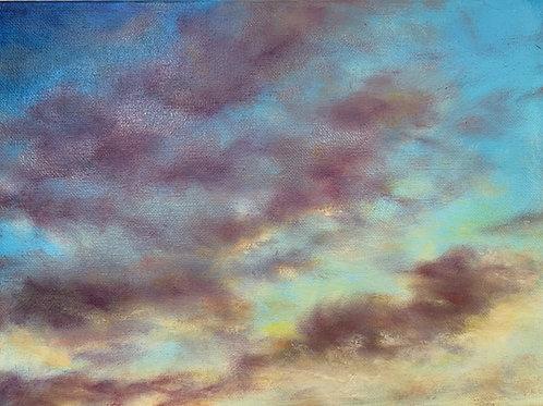 "Eastern Sunset | 12""x9"""