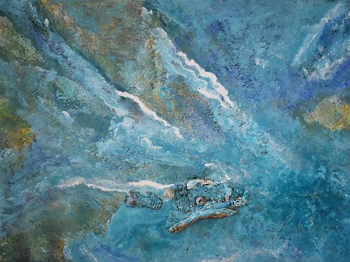 "Blue Sea | 30""x24"" |"