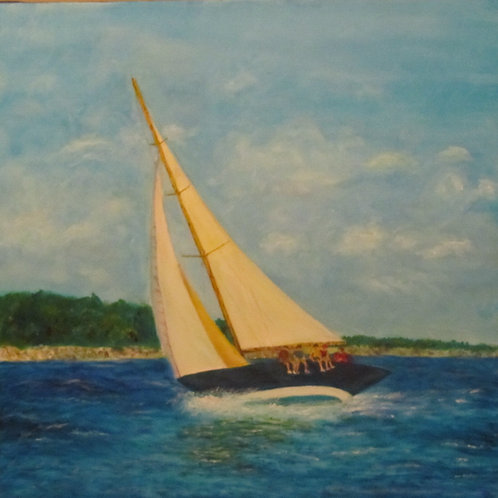 "Sailboat II | 20""x20"""