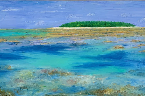 "Carribean Island | 30""x15"""