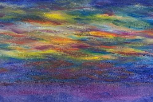 "Sunset Reflections | 20""x10"""