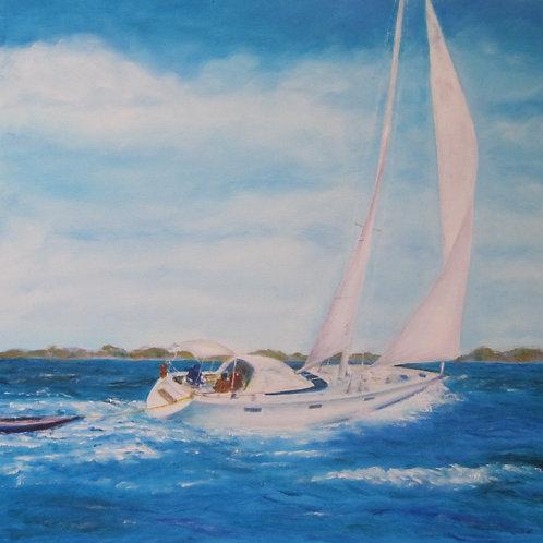 "Sailboat I | 20""x20"""