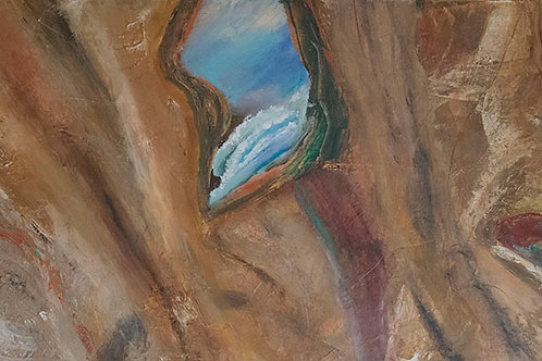 "Ocean Cave | 56""x24"""