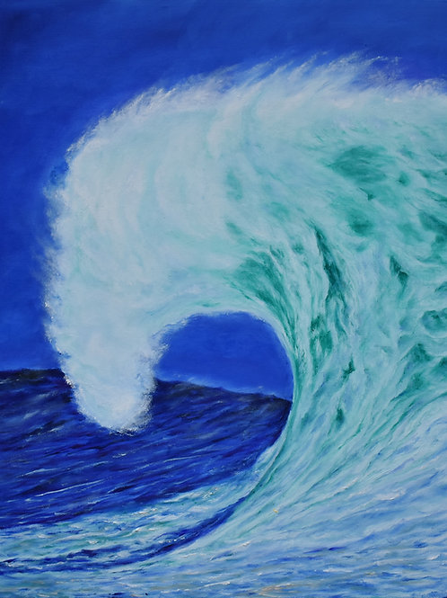 "Wave Fury |24""x30"" 