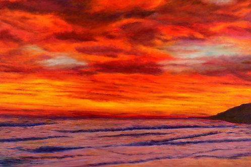 "Panoramic Sunset | 56""x24"""