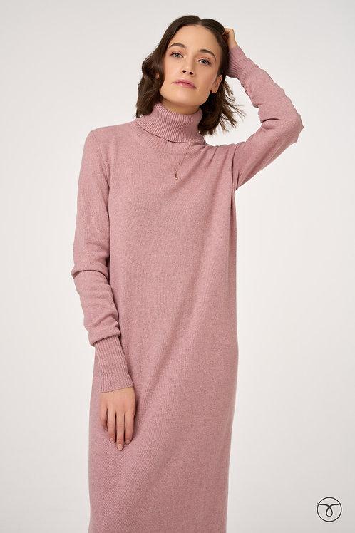 Платье из кашемира цвет сирень