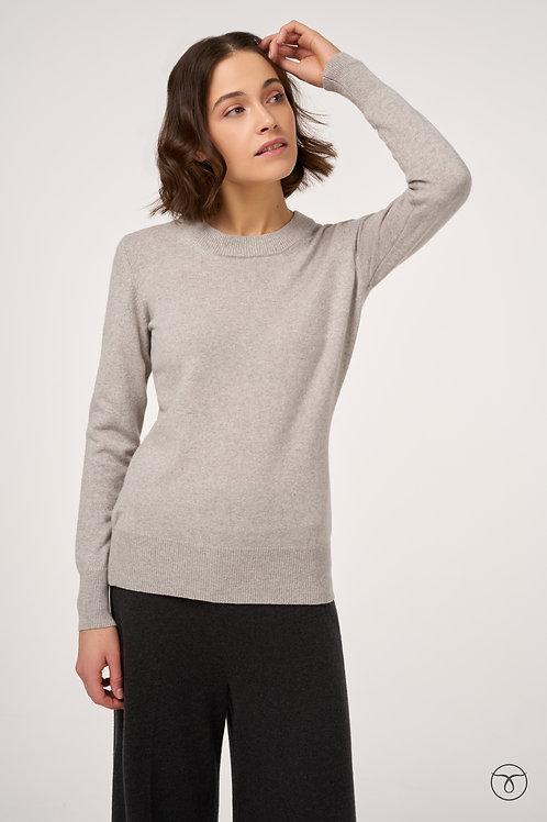 Джемпер кашемировый  цвет светло-серый