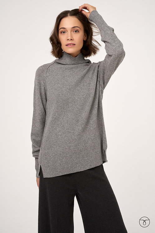 Джемпер кашемировый  оверсайз цвет серый