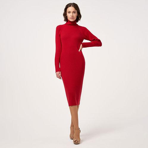 Платье из кашемира красное