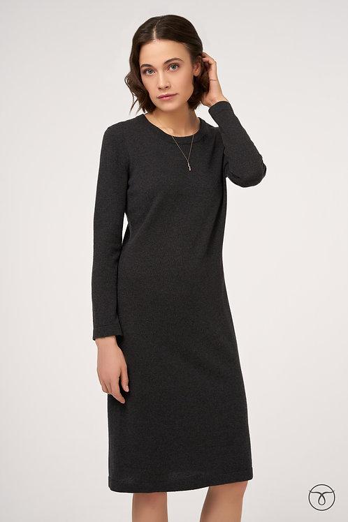Платье из кашемира классика цвет угольно-черный