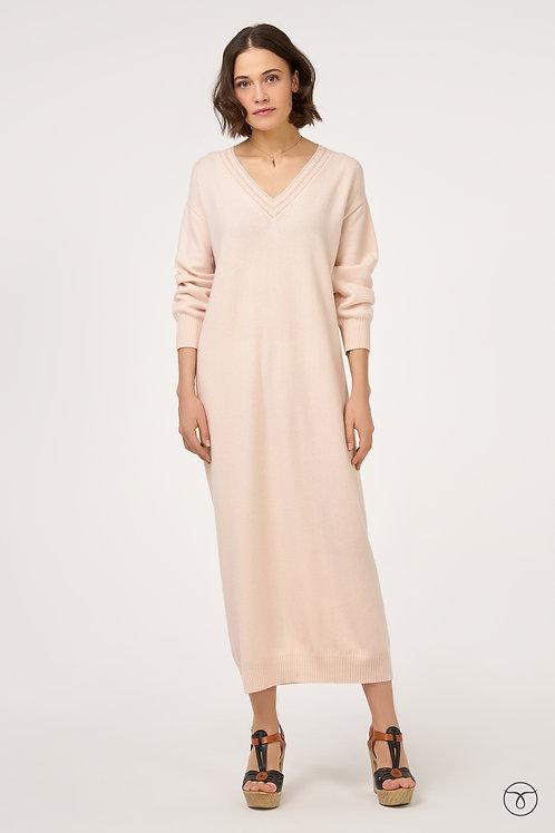 Платье из кашемира оверсайз  цвет нежно-розовый