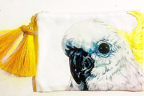 Cocky Clutch - Sulphur with Yellow tassel