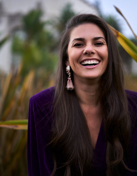 Caro Pierotto, Brazilian Singer, Beautiful Smile, shot by Diego Ruvalcaba