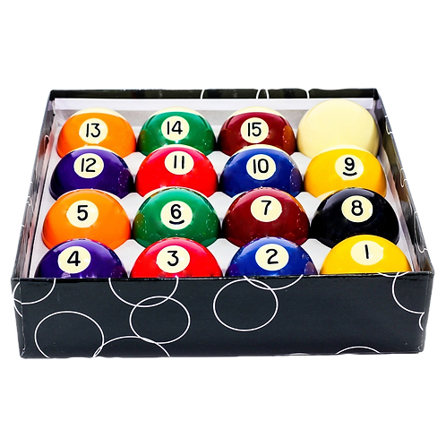 """2 1/4"""" Standard Ball Set with 2 3/8"""" Cue Ball"""