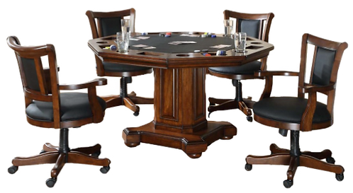 IMPERIAL 2-IN-1 GAME TABLE AND WITH 4 CHAIRS SET