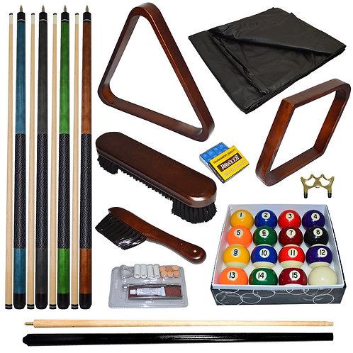 Imperial Deluxe Billiard Accessory Kit Walnut