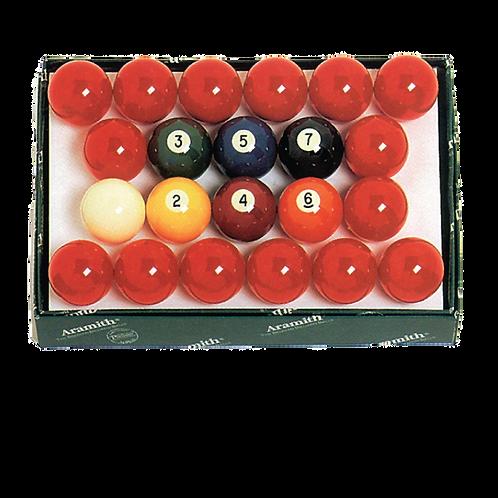 """2 1/4"""" Aramith Snooker Ball Set"""