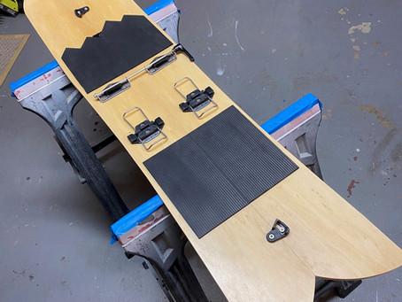 Custom DIY Burton Powder Surfer Splitboard