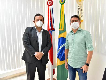 PRES. DO SINPOL/AM E PREFEITO DE MANAUS REUNEM-SE PARA PLANEJAR A IMUNIZAÇÃO DOS SERVIDORES DA PC-AM