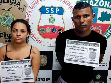 Polícia Civil prende casal com drogas, dinheiro e balança de precisão no bairro Cidade de Deus