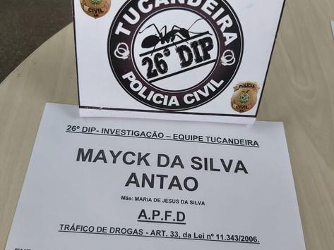 PRISÃO EM FLAGRANTE POR TRÁFICO DE DROGAS