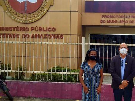 SINPOL-AM ACOMPANHA SINDICALIZADOS EM PROMOTORIA DO MUNICÍPIO DE IRANDUBA