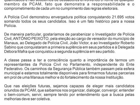 Nota de Parabenização - Eleições Municipais de 2020