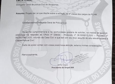 CASA CIVIL PEDE MANIFESTAÇÃO DA DELEGACIA-GERAL QUANTO  AO PROJETO DE LEI APRESENTADO PELO SINPOL/AM