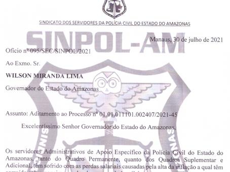 SINPOL/AM REQUER AO ESTADO O PAGAMENTO DAS DATAS-BASES DE PERITOS E SERVIDORES ADMINISTRATIVOS DA PC