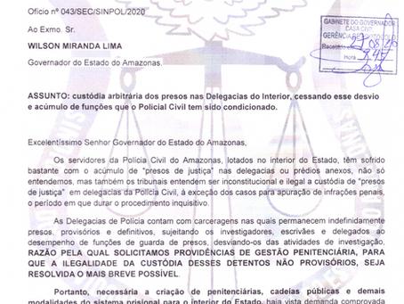 SINPOL-AM SOLICITA MEDIDAS PARA SANAR A ILEGALIDADE NA CUSTÓDIA DE PRESOS NAS DELEGACIAS DO INTERIOR