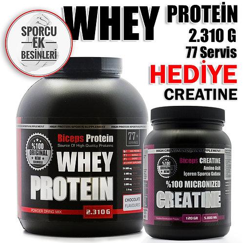 2310 gr Whey Aromalı Protein Tozu (Çilekli, Çikolatalı, Muzlu)