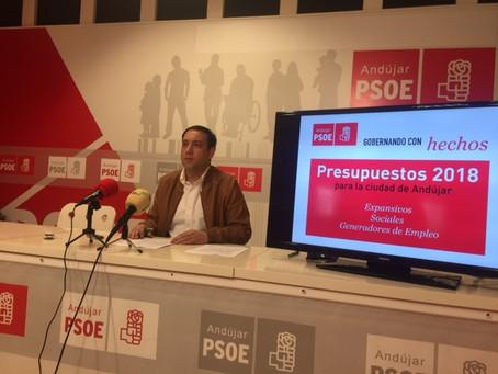 EL PSOE DE ANDÚJAR PRESENTA UNA CAMPAÑA DE INFORMACIÓN SOBRE LOS PRESUPUESTOS MUNICIPALES PARA EL AÑ