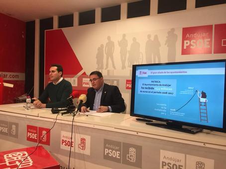 El Ayuntamiento de Andújar recibe de la Junta de Andalucía 15,4 M€ de financiación sin condiciones d