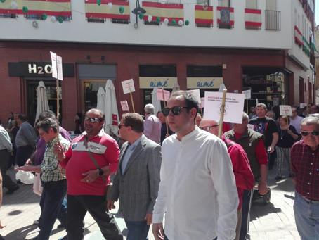 El PSOE de Andújar apoyó una vez más la reivindicación de los pensionistas