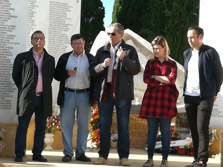 El PSOE de Andújar  y la Asociación de la Memoria Histórica conmemoran el 1º de mayo