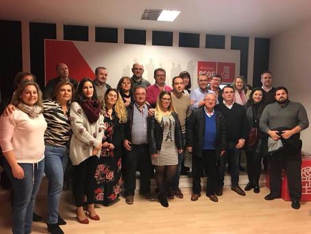 Paco Huertas reelegido Secretario General del PSOE de Andújar con más del 98% de apoyos