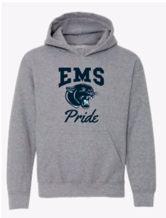 """Grey EMS Pride Hoodie """"Retired Design"""" Limited Quantities"""