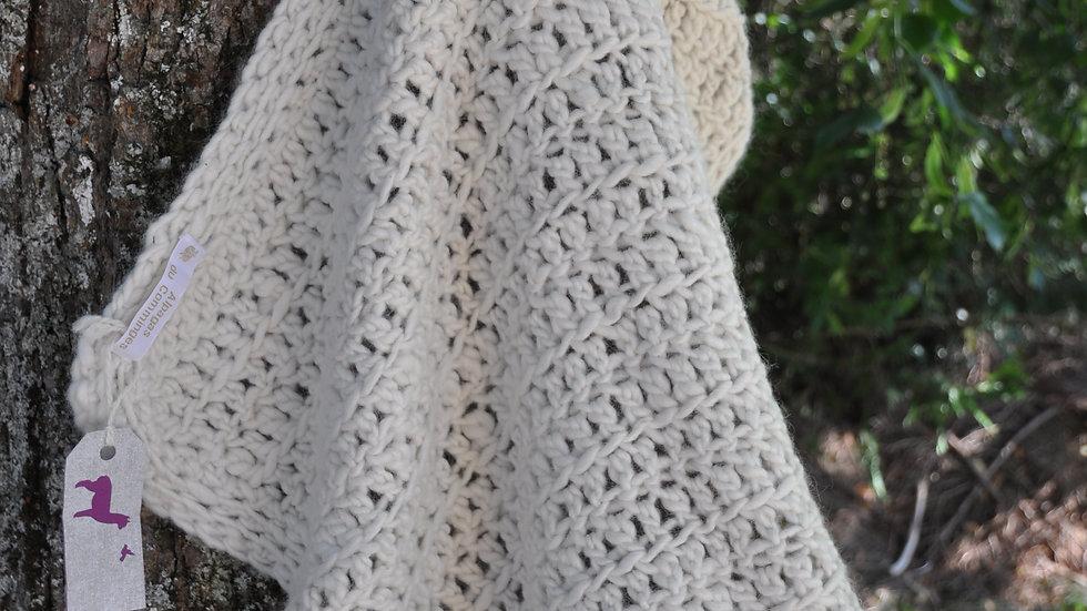 Couverture bébé en laine de nos Alpagas