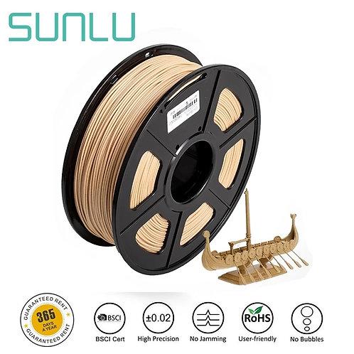 SUNLU Wood Fiber 3D Printer Filament PLA & wood  1.75mm 1kg