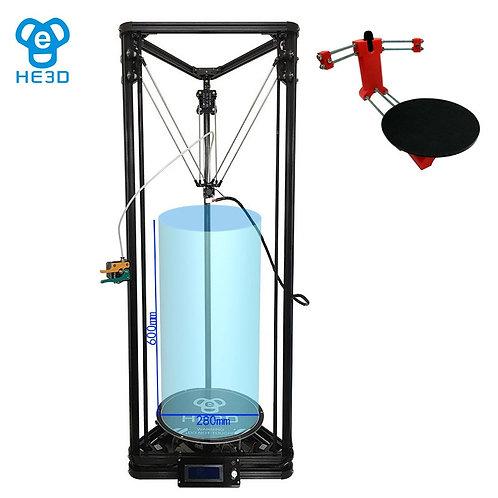 DIY HE3D K280 Delta Auto Level 3D Printer with 3D Scanner