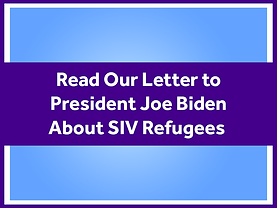 Read our Letter to JB about SIV Refugees