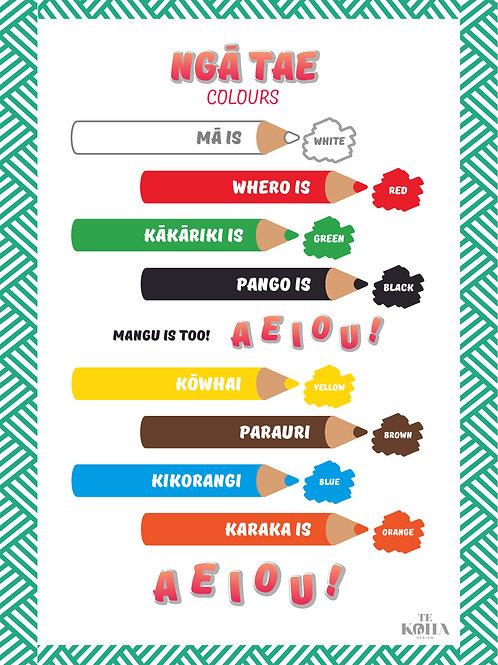 Ngā Tae / Colours A3