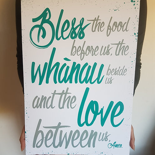 Kitchen Blessing TEAL A3