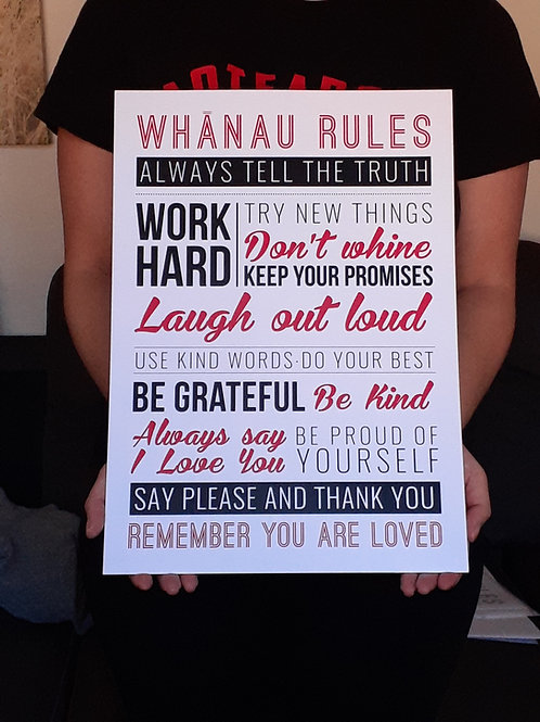 Whanau Rules A3