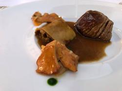 Beef with seasonal mushrooms