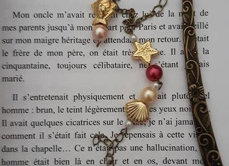 marque page bijoux sirène
